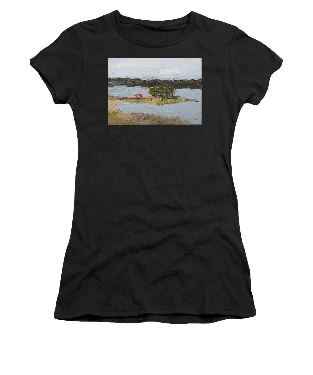 House Women's T-Shirt featuring the painting Florida Lake II by Break The Silhouette