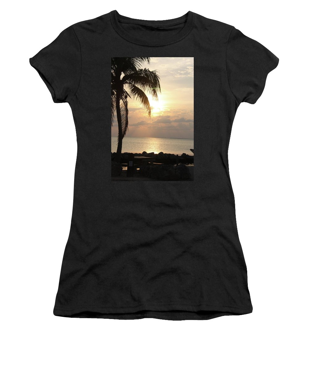 Women's T-Shirt (Athletic Fit) featuring the photograph Florida Sunset by Darren Edwards