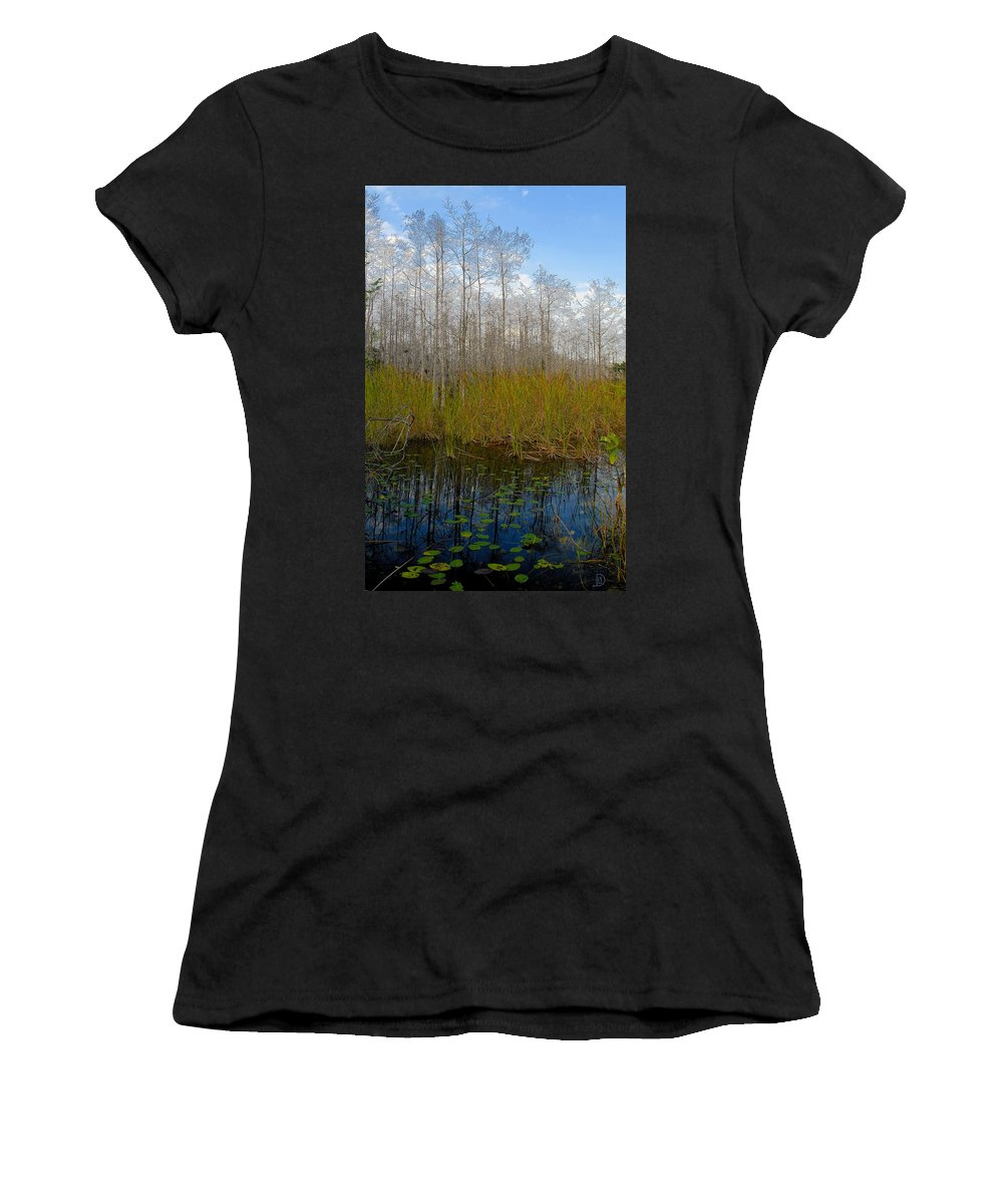 Florida Women's T-Shirt (Athletic Fit) featuring the painting Florida Wilderness by David Lee Thompson