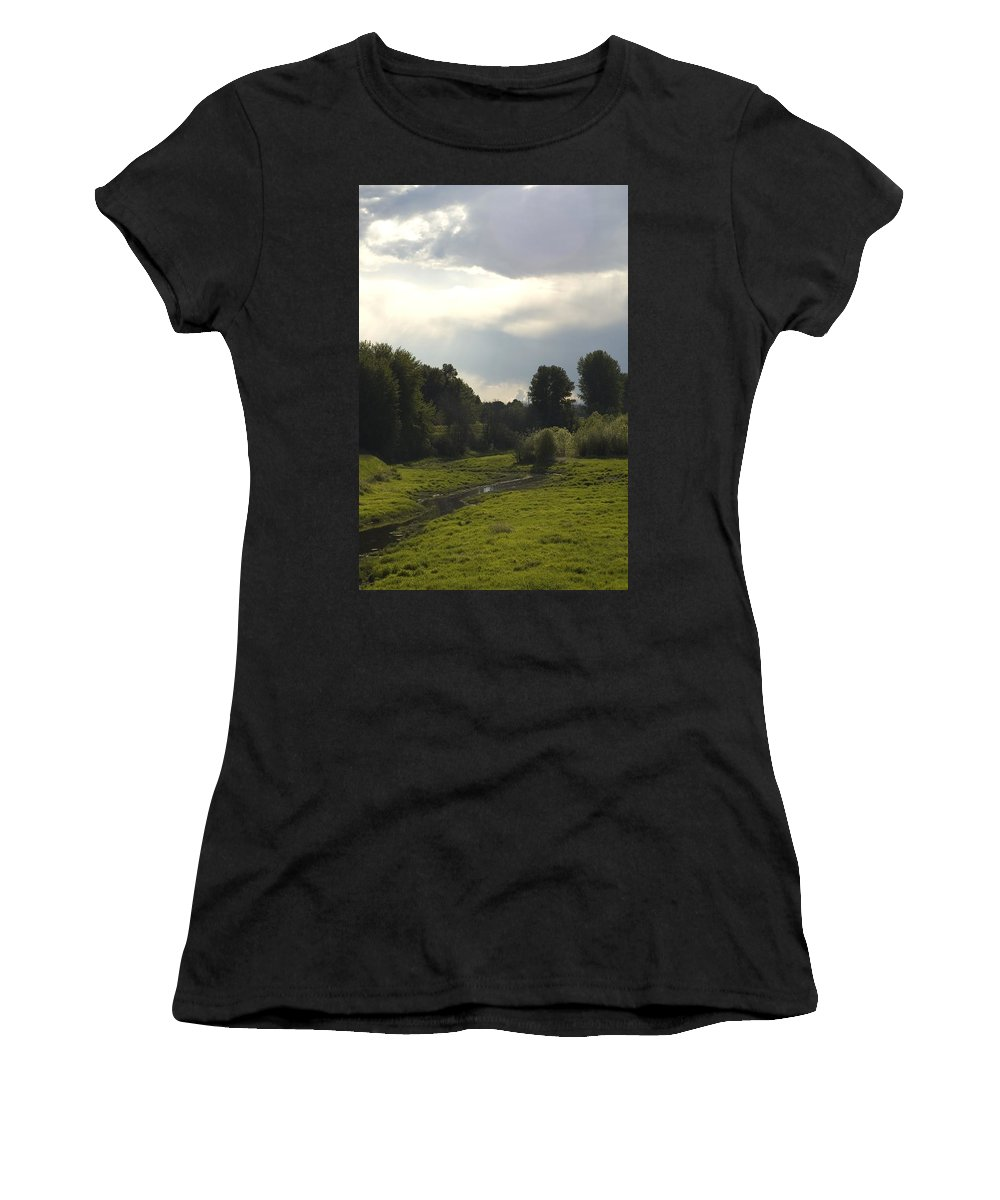 Stream Women's T-Shirt (Athletic Fit) featuring the photograph Flow by Sara Stevenson