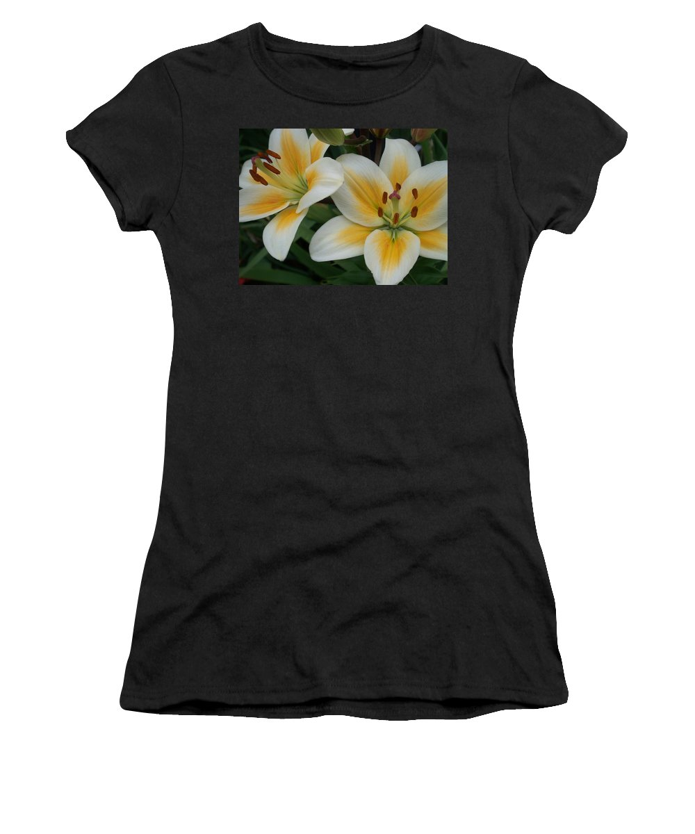 Flower Women's T-Shirt (Athletic Fit) featuring the photograph Flower Close Up 2 by Anita Burgermeister