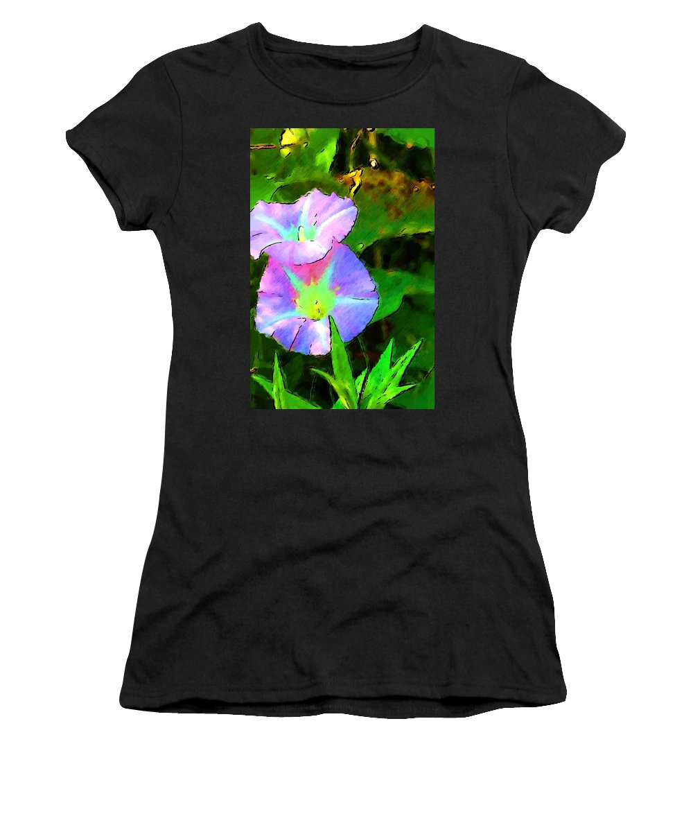 Digital Photograph Women's T-Shirt featuring the photograph Flower Drawing by David Lane