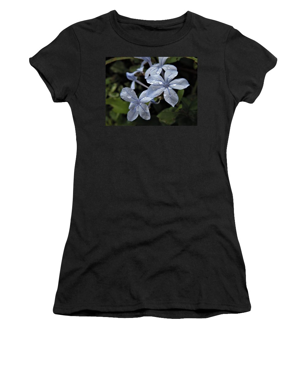 Floral Women's T-Shirt (Athletic Fit) featuring the photograph Flower Droplets by Jonathan Botha
