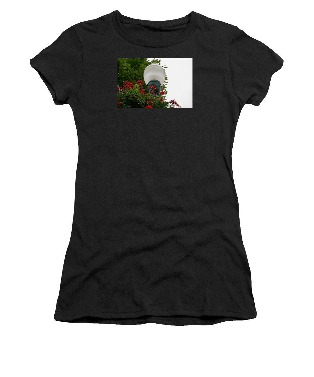 Women's T-Shirt (Athletic Fit) featuring the photograph Flower Light by Deborah Kilty Harrison