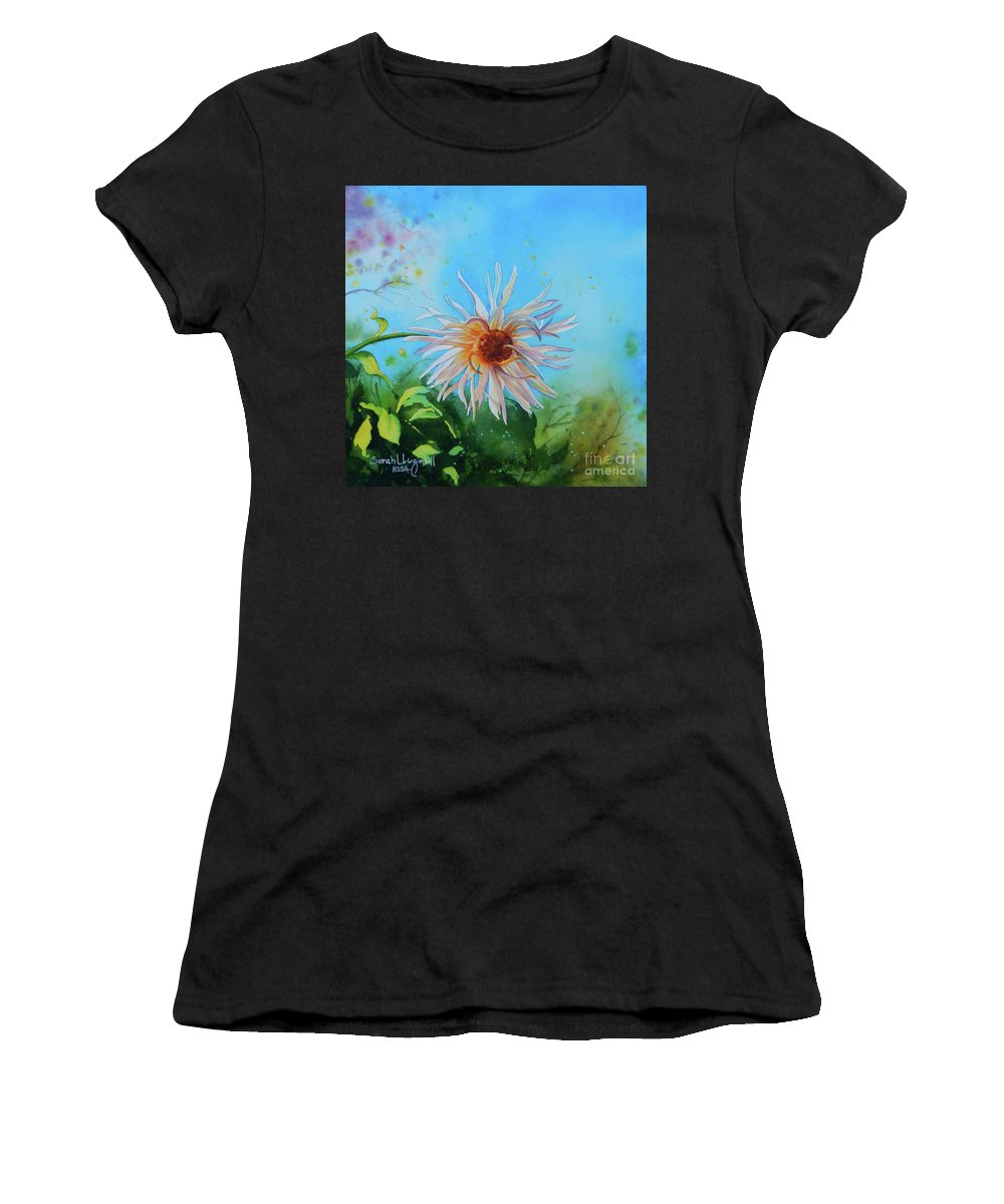 Flower Women's T-Shirt (Athletic Fit) featuring the painting Flower Of Love by Sarah Luginbill