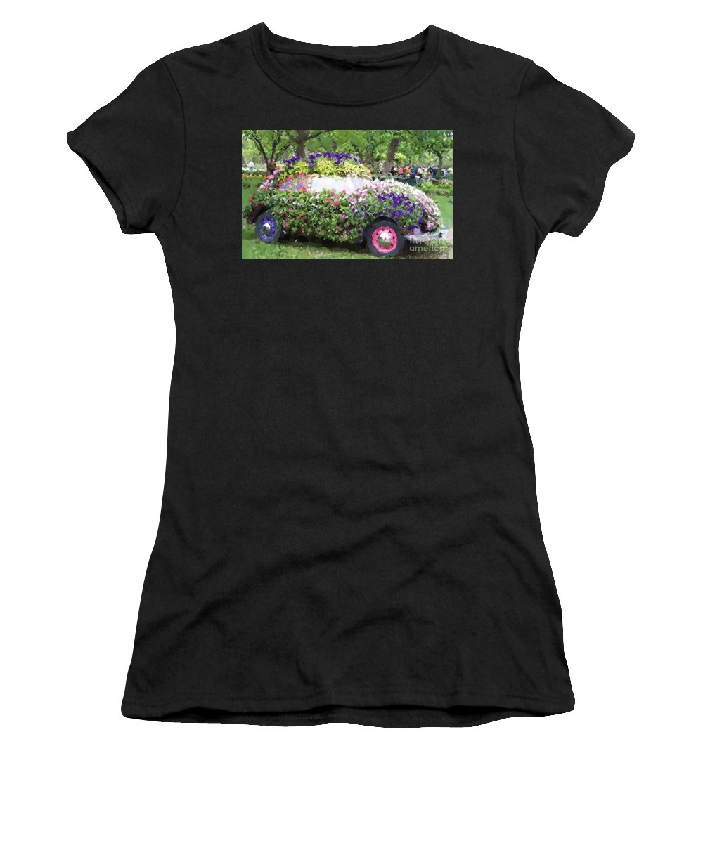 Cars Women's T-Shirt (Athletic Fit) featuring the photograph Flower Power by Debbi Granruth
