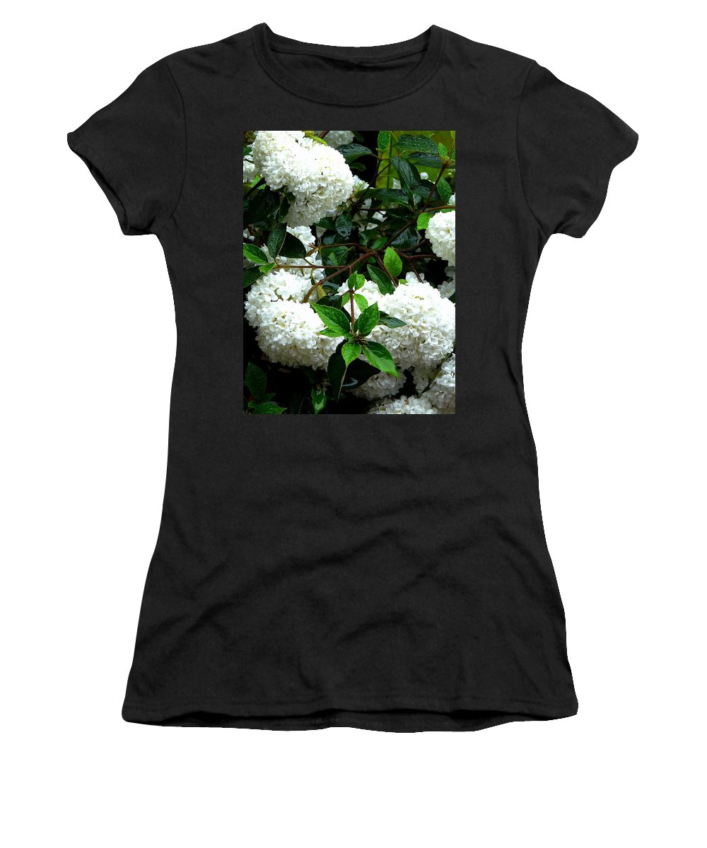 Nature Women's T-Shirt featuring the photograph Flower Snow Balls by Valerie Ornstein