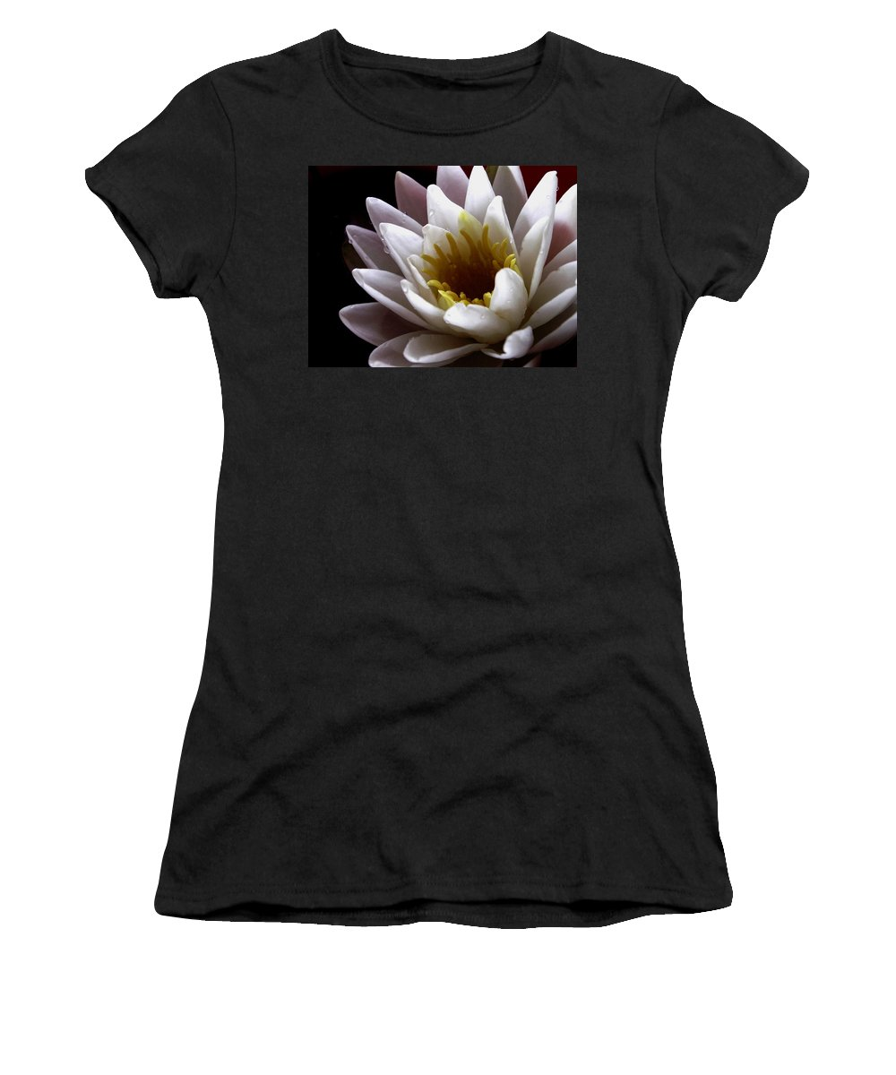 Flowers Women's T-Shirt (Athletic Fit) featuring the photograph Flower Waterlily by Nancy Griswold