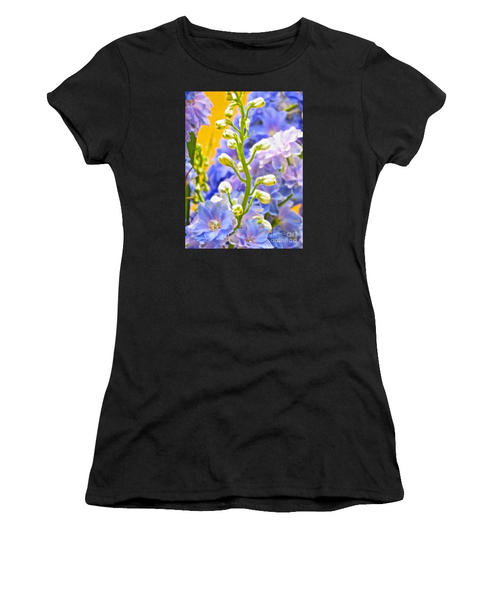 Flowers Women's T-Shirt (Athletic Fit) featuring the photograph Flowers 39 by Ken Lerner