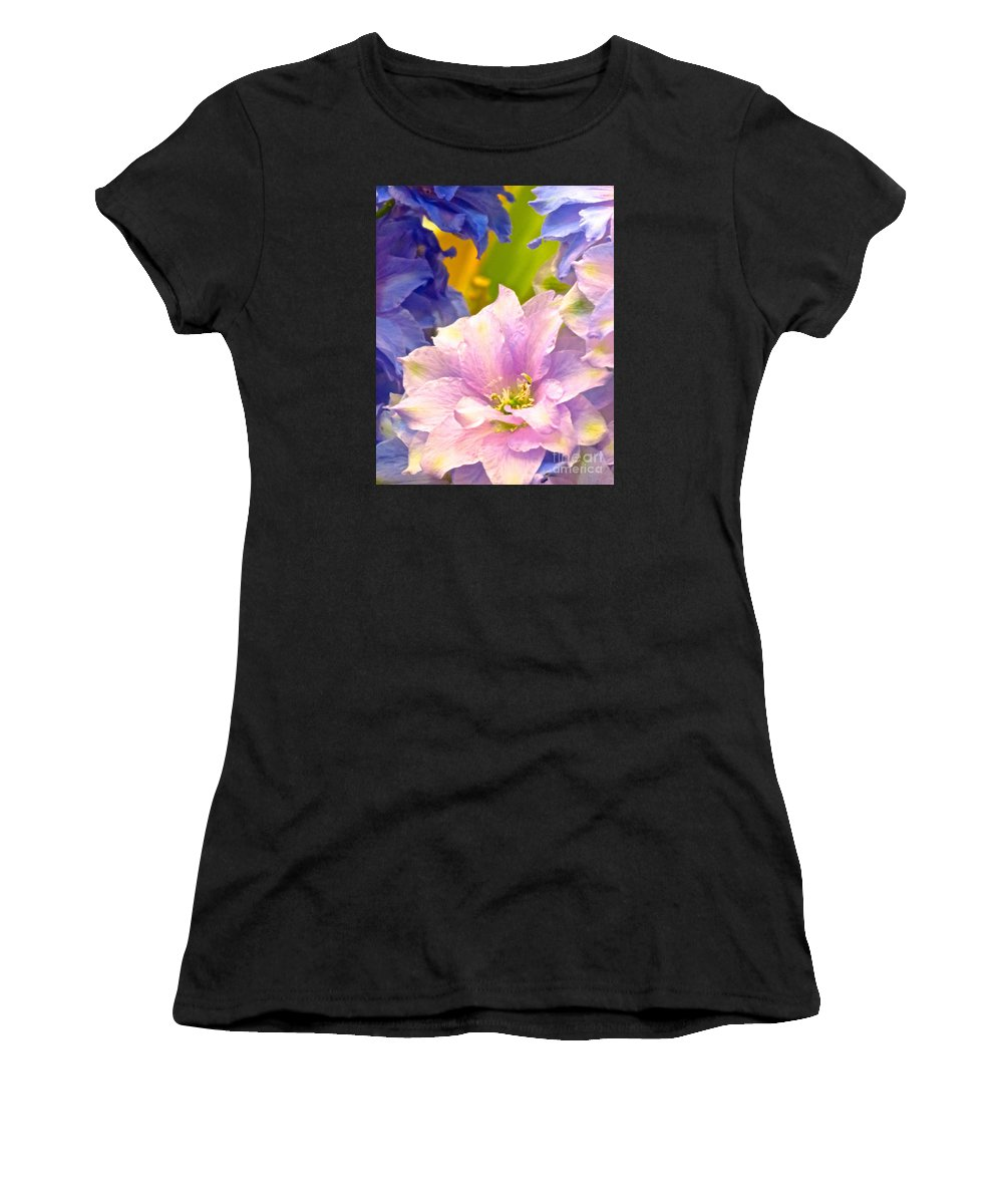 Flowers Women's T-Shirt (Athletic Fit) featuring the photograph Flowers 42 by Ken Lerner