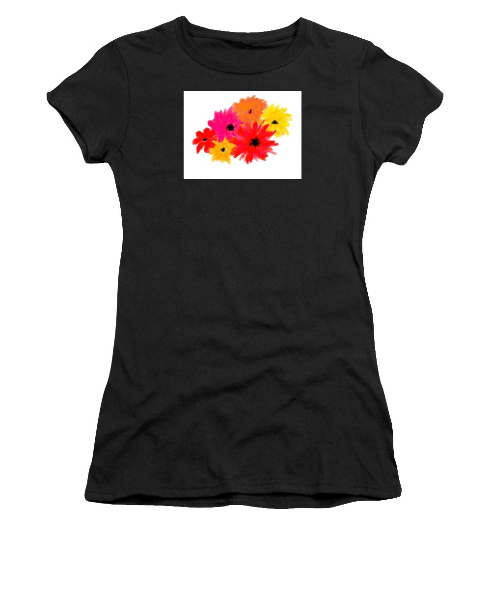 Flowers Women's T-Shirt (Athletic Fit) featuring the digital art Flowers by Andrew Karp
