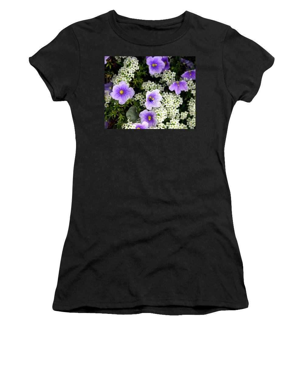 Flowers Women's T-Shirt featuring the photograph Flowers Etc by Marty Koch