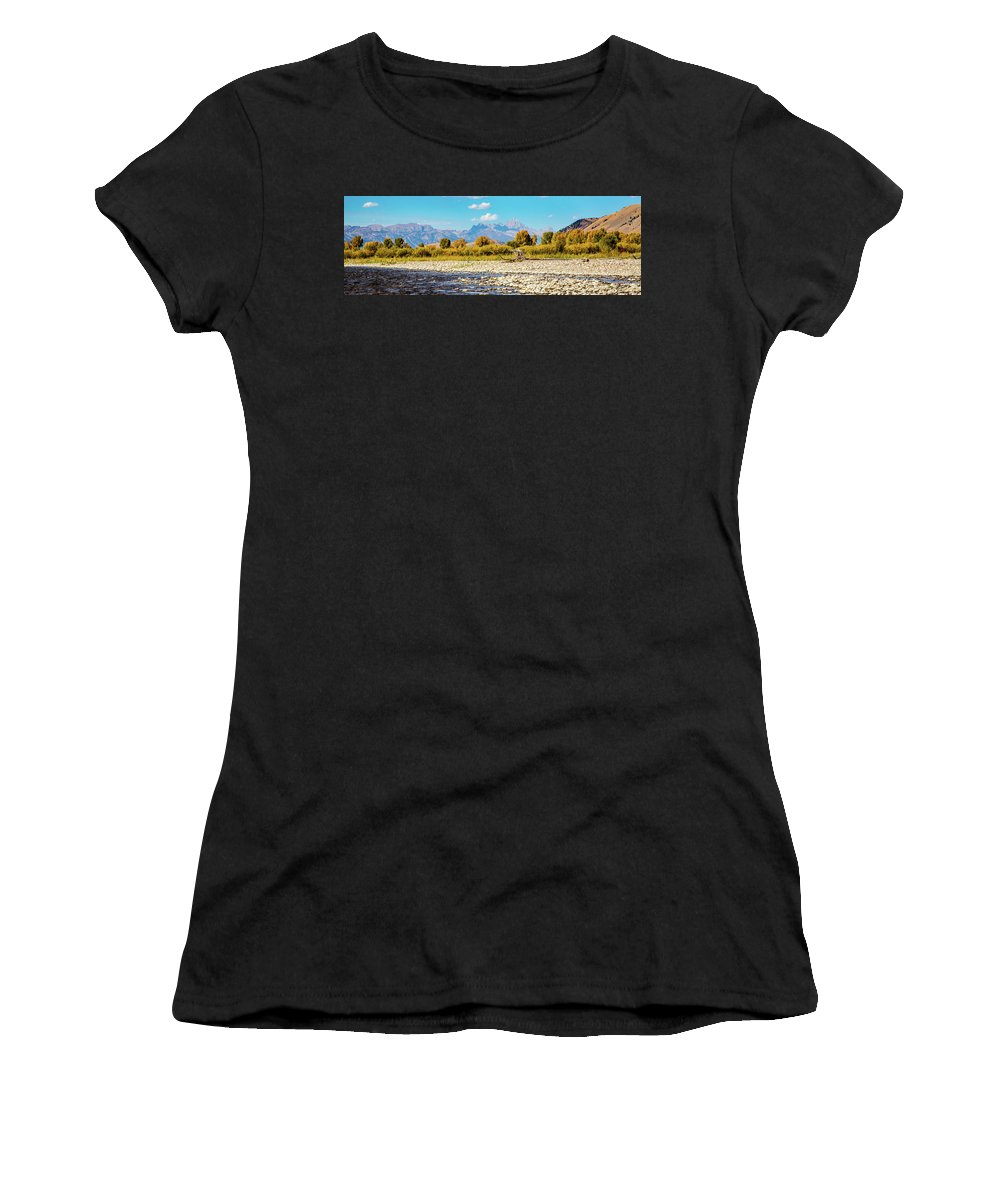 Landscape Women's T-Shirt (Athletic Fit) featuring the photograph Fly Fishing Paradise by Dave Whited