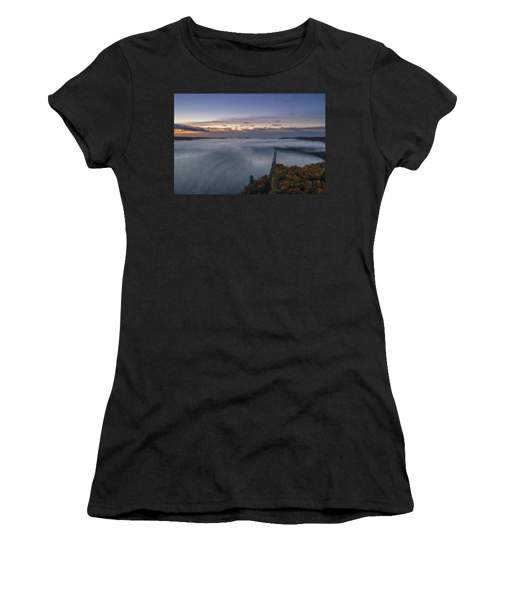 Marquette Women's T-Shirt (Athletic Fit) featuring the digital art Foggy by Bradley J Nelson