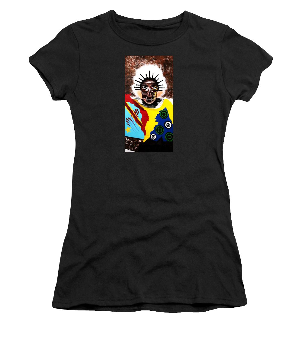 Congo Women's T-Shirt featuring the painting For The Women Of The Congo by Carla J Lawson