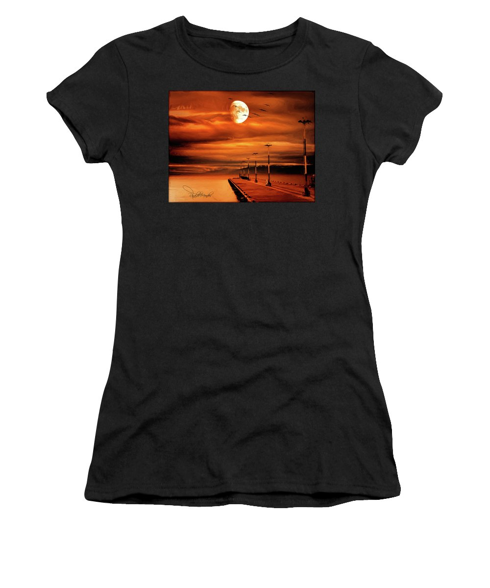 Ushuaia Women's T-Shirt (Athletic Fit) featuring the digital art Forbidden by Rinaldo Mendes