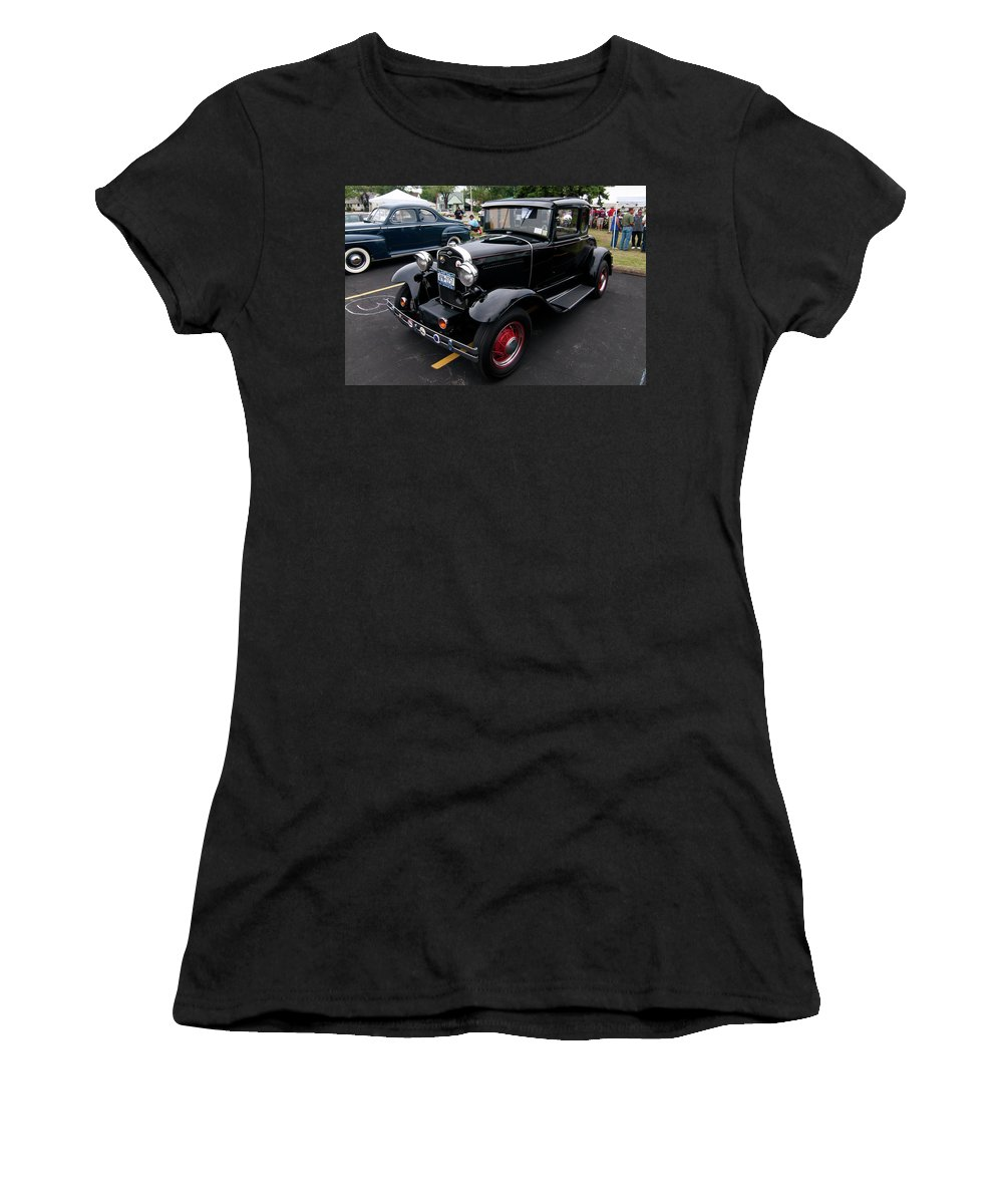 Antique Car Women's T-Shirt (Athletic Fit) featuring the photograph Ford 2102 by Guy Whiteley