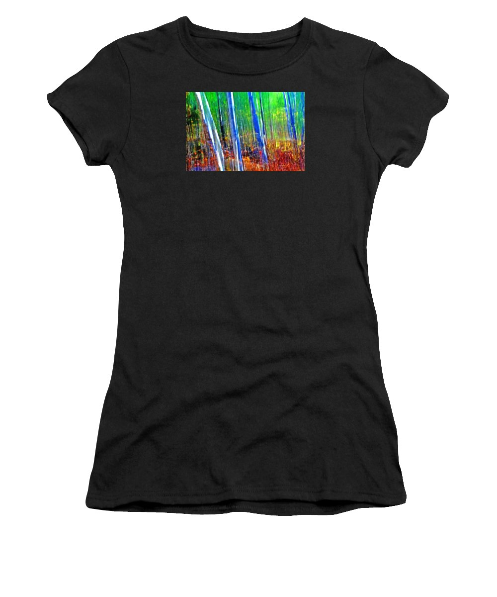 Forest Women's T-Shirt featuring the photograph Forest Magic by Bill Morgenstern