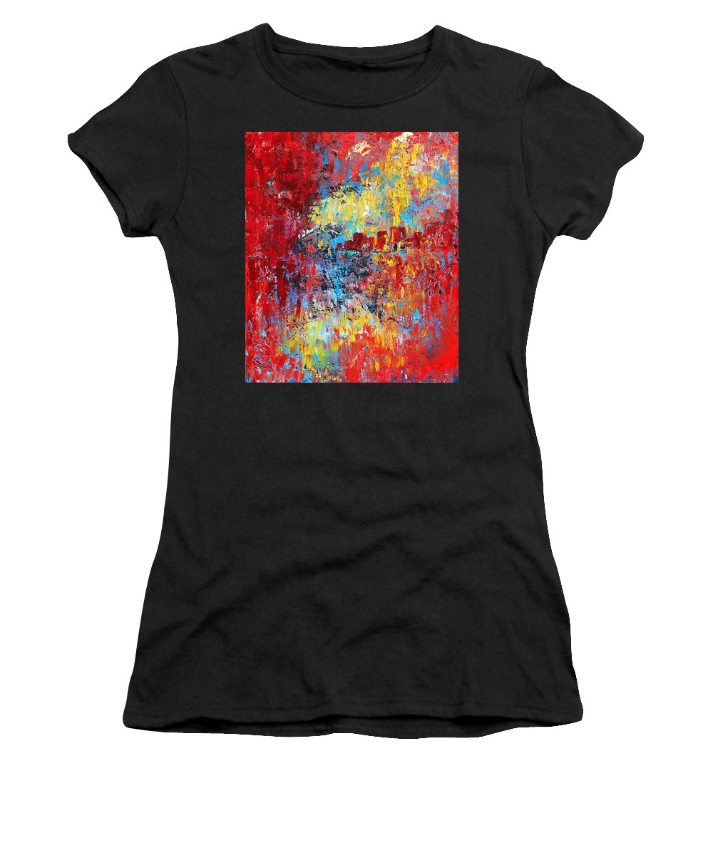Abstract Women's T-Shirt featuring the painting Forgotten by Emily Page