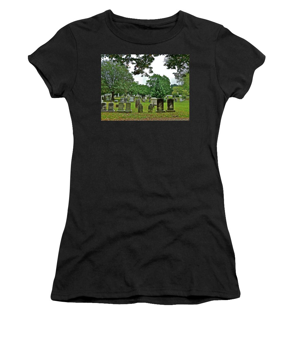 Graves Women's T-Shirt (Athletic Fit) featuring the photograph Former Neighbors by Diana Hatcher