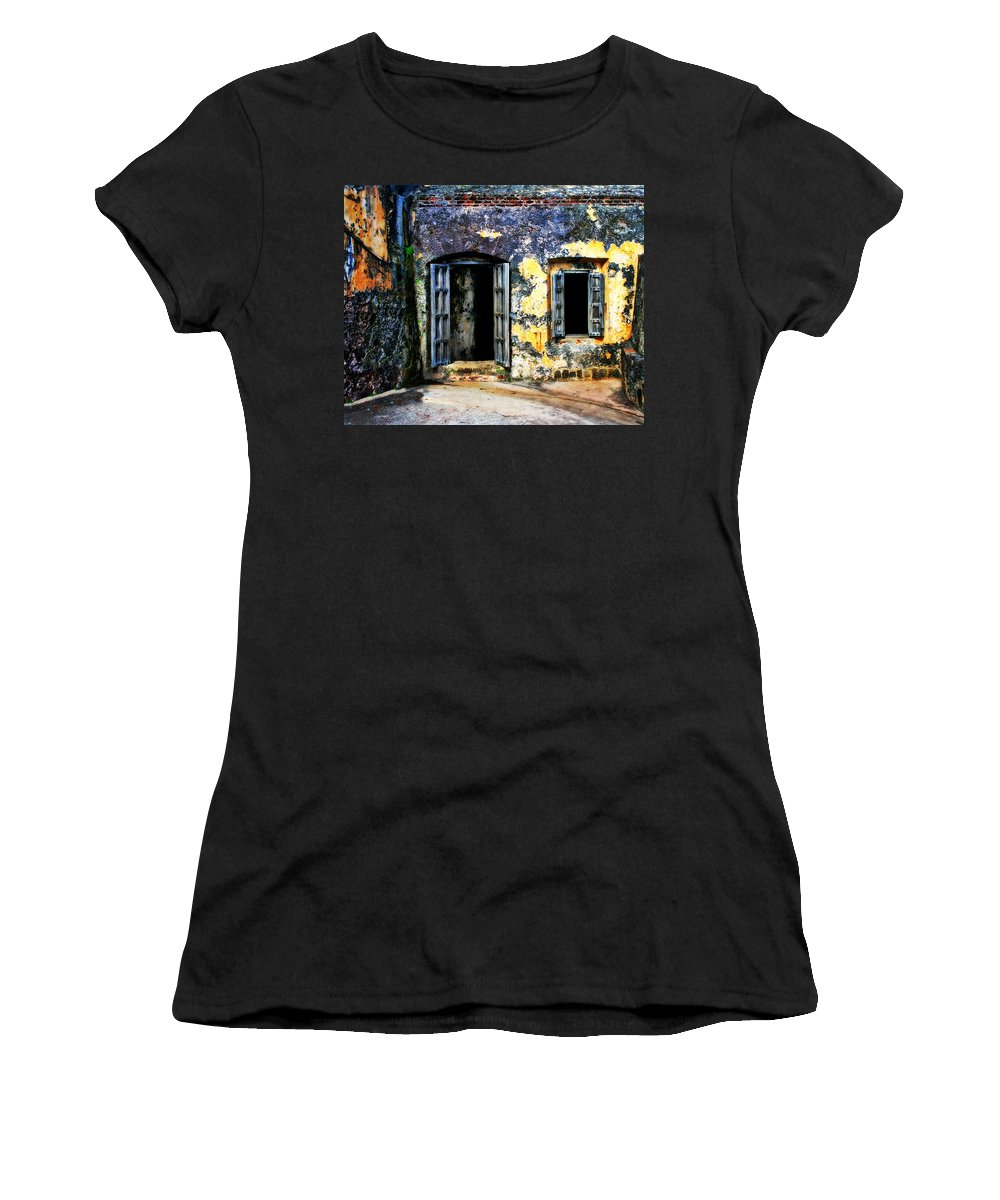 Fort Women's T-Shirt (Athletic Fit) featuring the photograph Fort San Juan by Perry Webster