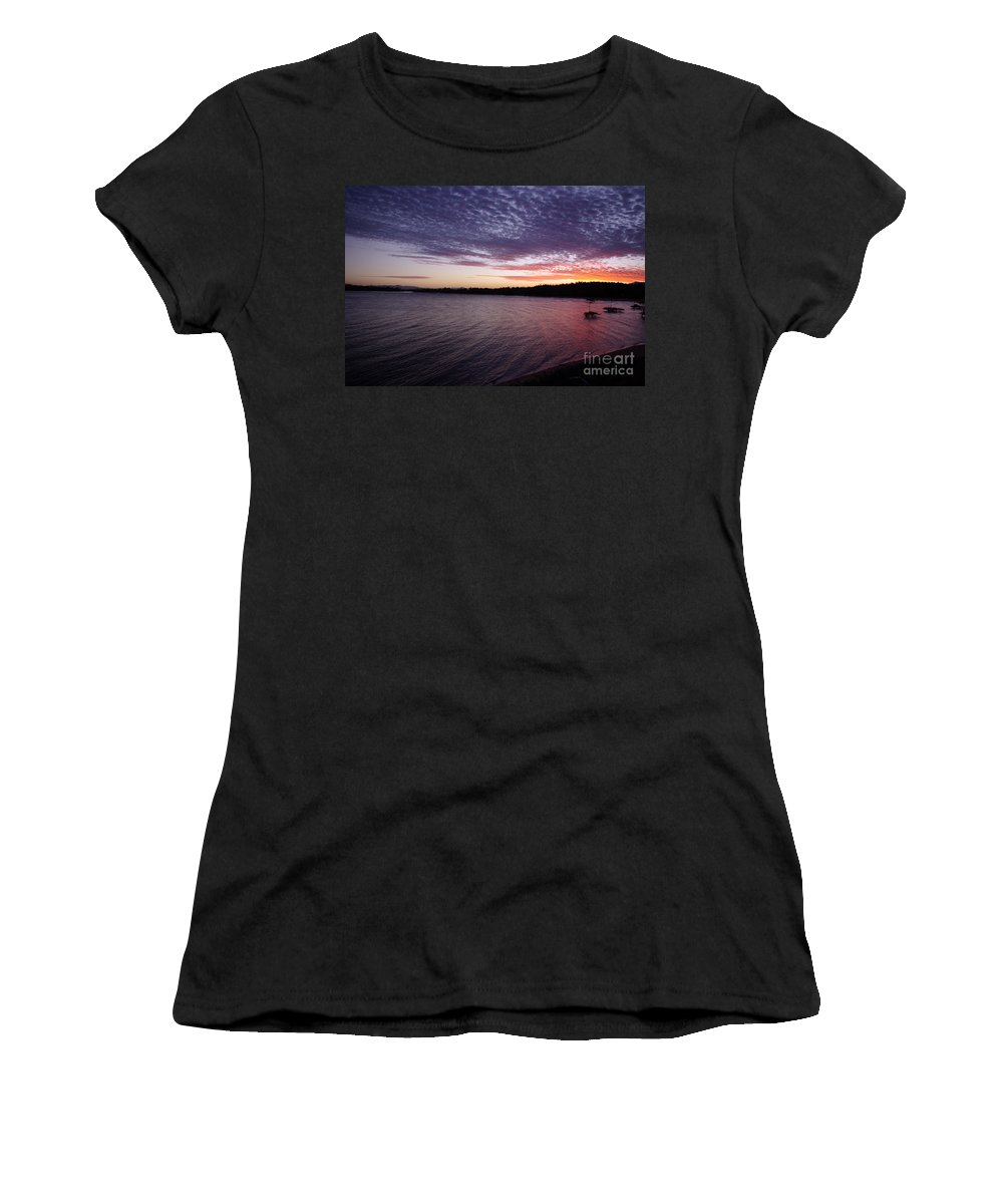 Landscape Women's T-Shirt (Athletic Fit) featuring the photograph Four Elements Sunset Sequence 4 Coconuts Qld by Kerryn Madsen- Pietsch