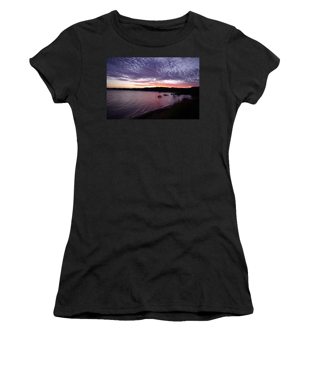 Landscape Women's T-Shirt (Athletic Fit) featuring the photograph Four Elements Sunset Sequence 6 Coconuts Qld by Kerryn Madsen-Pietsch