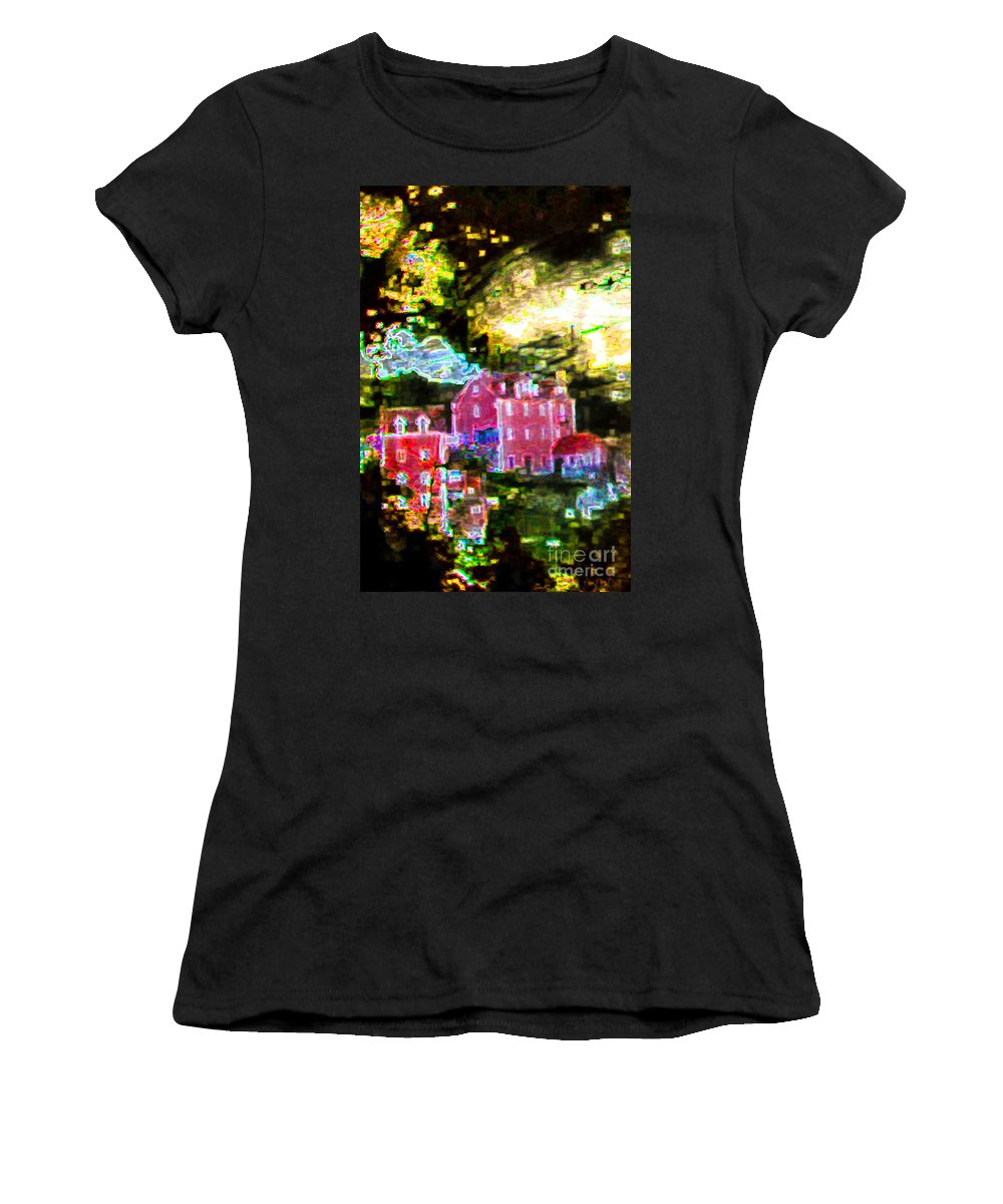 Abstract Women's T-Shirt featuring the photograph Four Stories From Portugal by Stefan H Unger