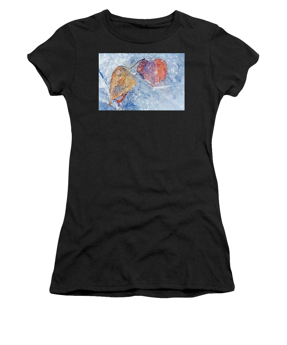 Ice Women's T-Shirt (Athletic Fit) featuring the photograph Fractured Seasons by Mike Dawson