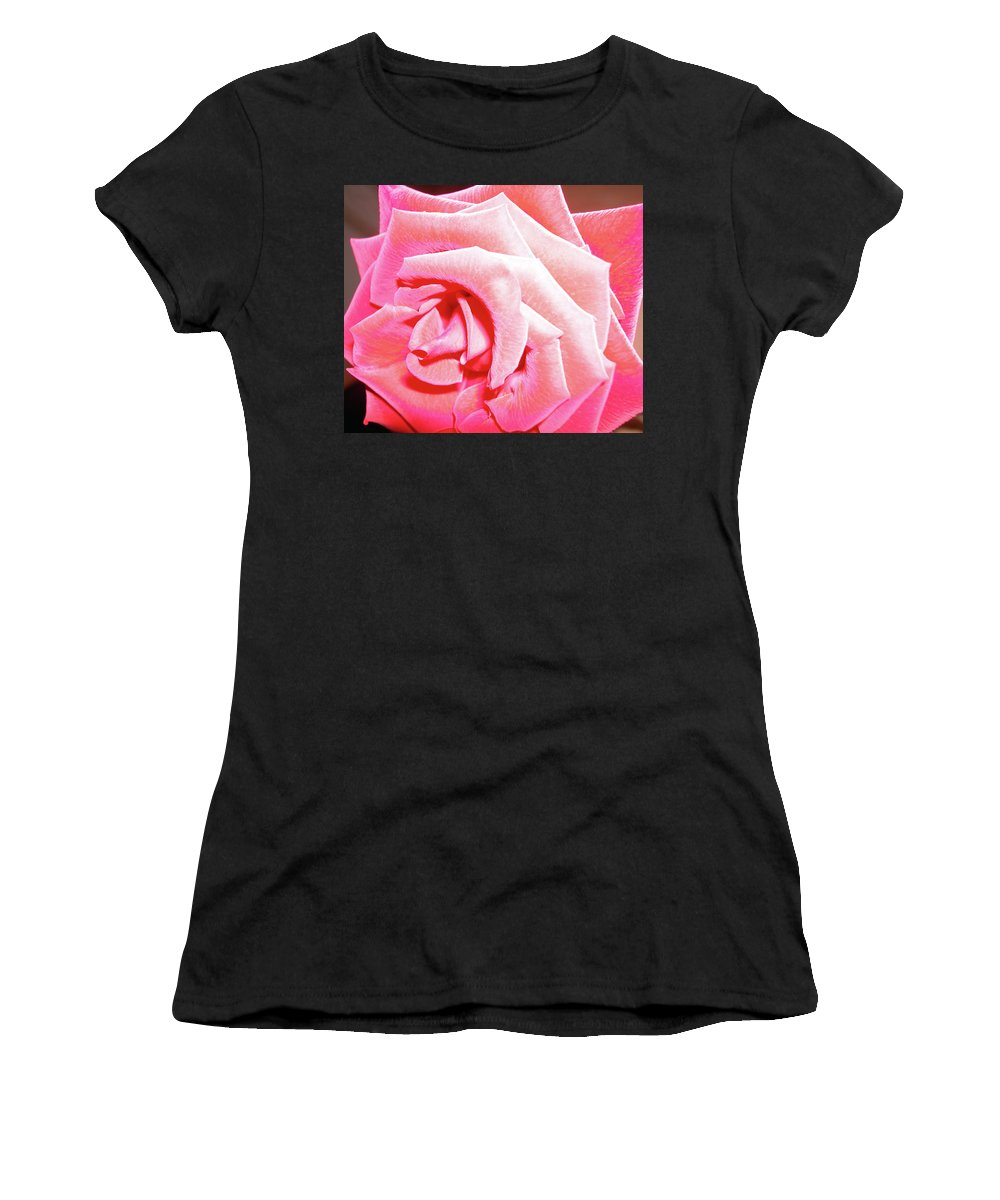Rose Women's T-Shirt featuring the photograph Fragrant Rose by Marie Hicks