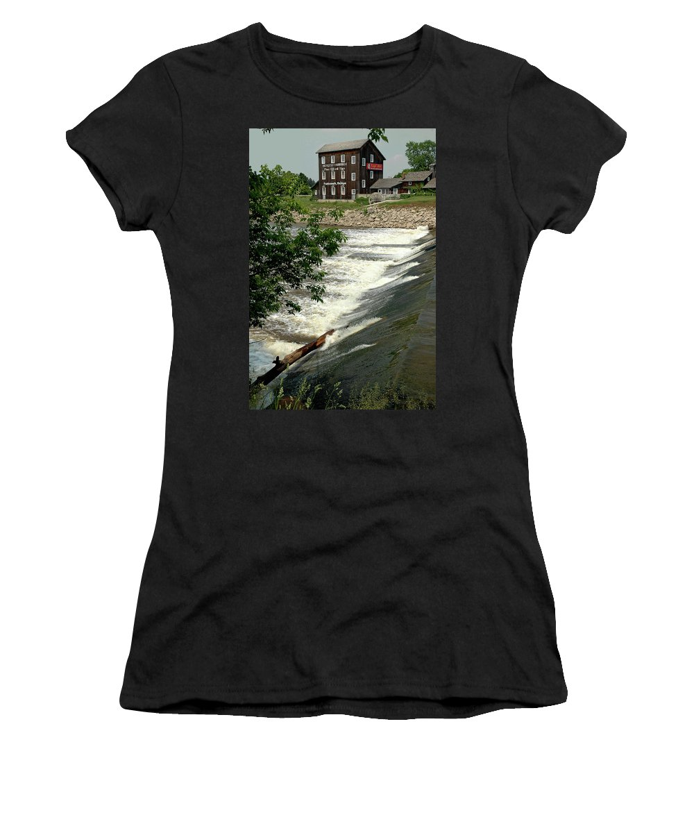 Usa Women's T-Shirt (Athletic Fit) featuring the photograph Frankenmuth Lager Mill II by LeeAnn McLaneGoetz McLaneGoetzStudioLLCcom