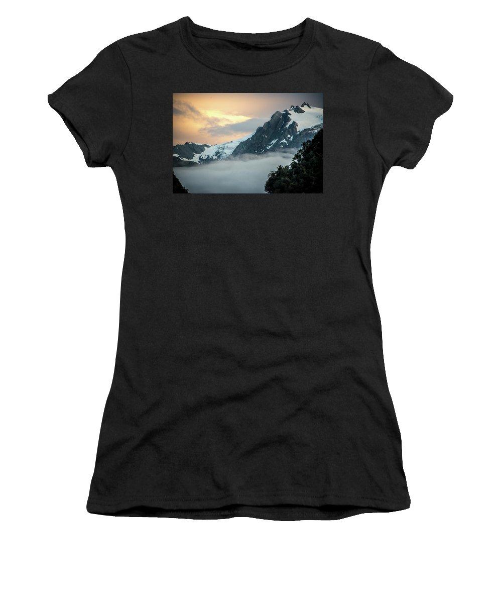 Franz Josef Women's T-Shirt (Athletic Fit) featuring the photograph Franz Josef Splendor by Laurent Fox