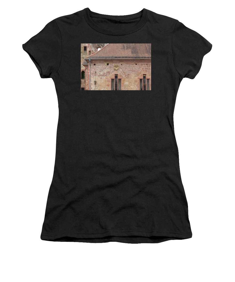 Heidelberg Women's T-Shirt featuring the photograph Frauenzimmerbau Crest by Teresa Mucha