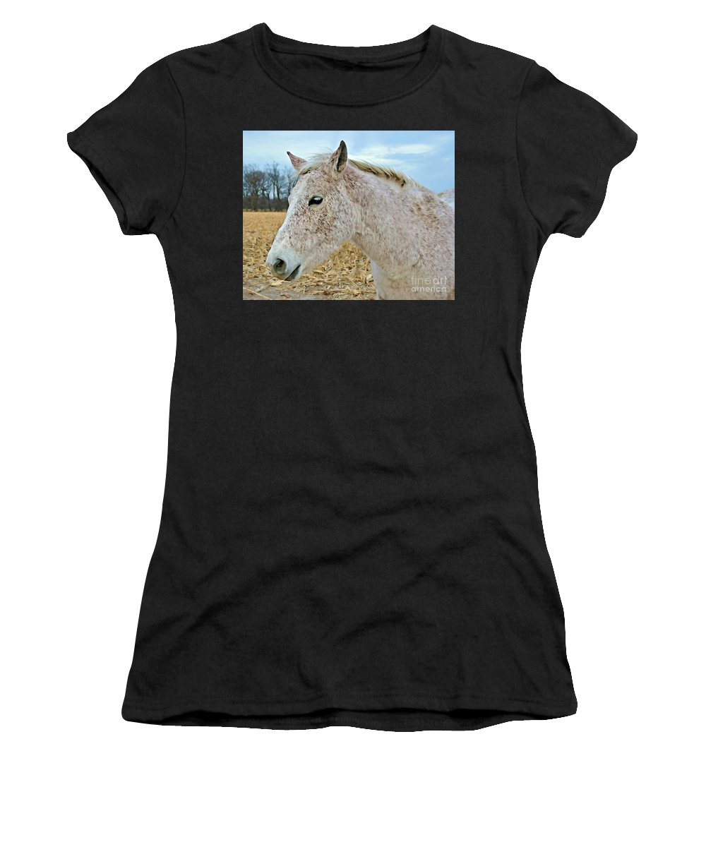 Freckles Women's T-Shirt featuring the photograph Freckles by Kathy M Krause