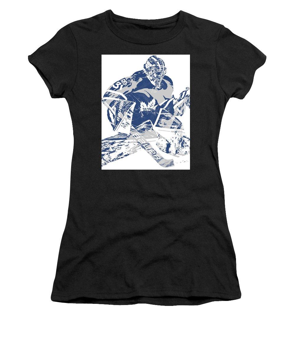 Frederik Andersen Toronto Maple Leafs Pixel Art 2 Women S T Shirt For Sale By Joe Hamilton