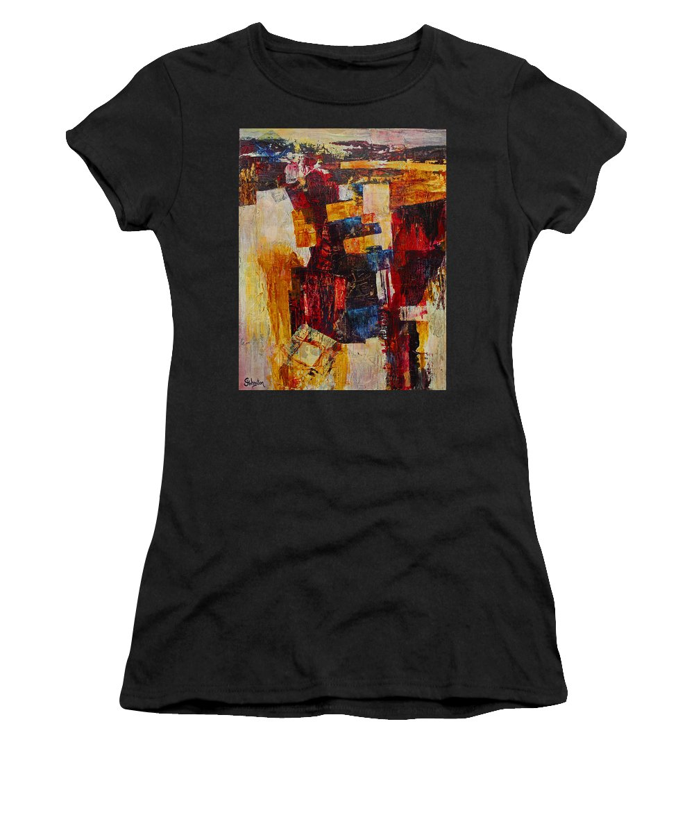 Free Women's T-Shirt featuring the mixed media Free Falling by Cindy Johnston