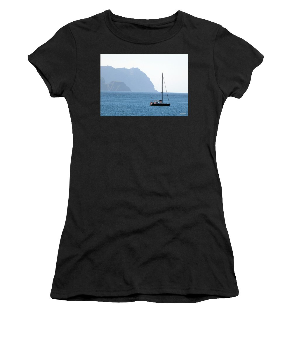 Sailing Boat Women's T-Shirt (Athletic Fit) featuring the photograph Freedom by Anthony Gallagher