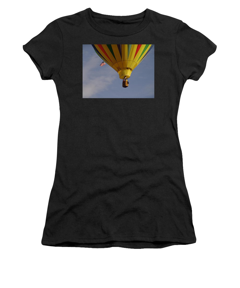 Balloon Women's T-Shirt (Athletic Fit) featuring the photograph Freedom by Carol Milisen