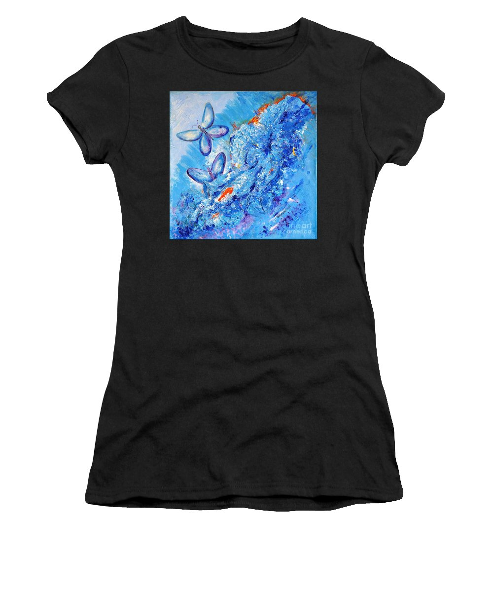 Fantasy Women's T-Shirt (Athletic Fit) featuring the painting Freedom In Soul by Stella Velka
