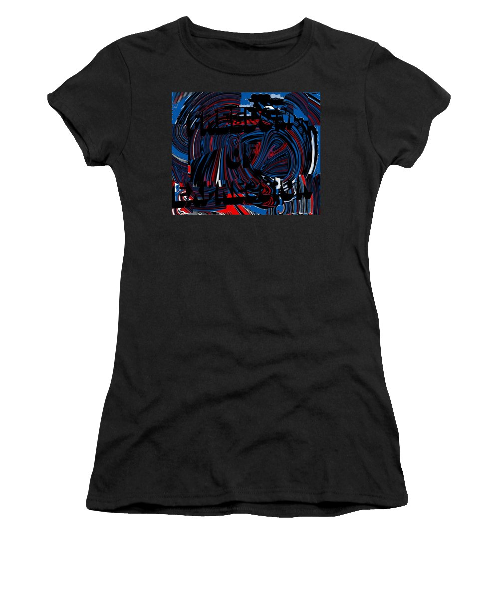 Freedom Of Expression Women's T-Shirt (Athletic Fit) featuring the digital art Freedom Of Expression by Pharris Art