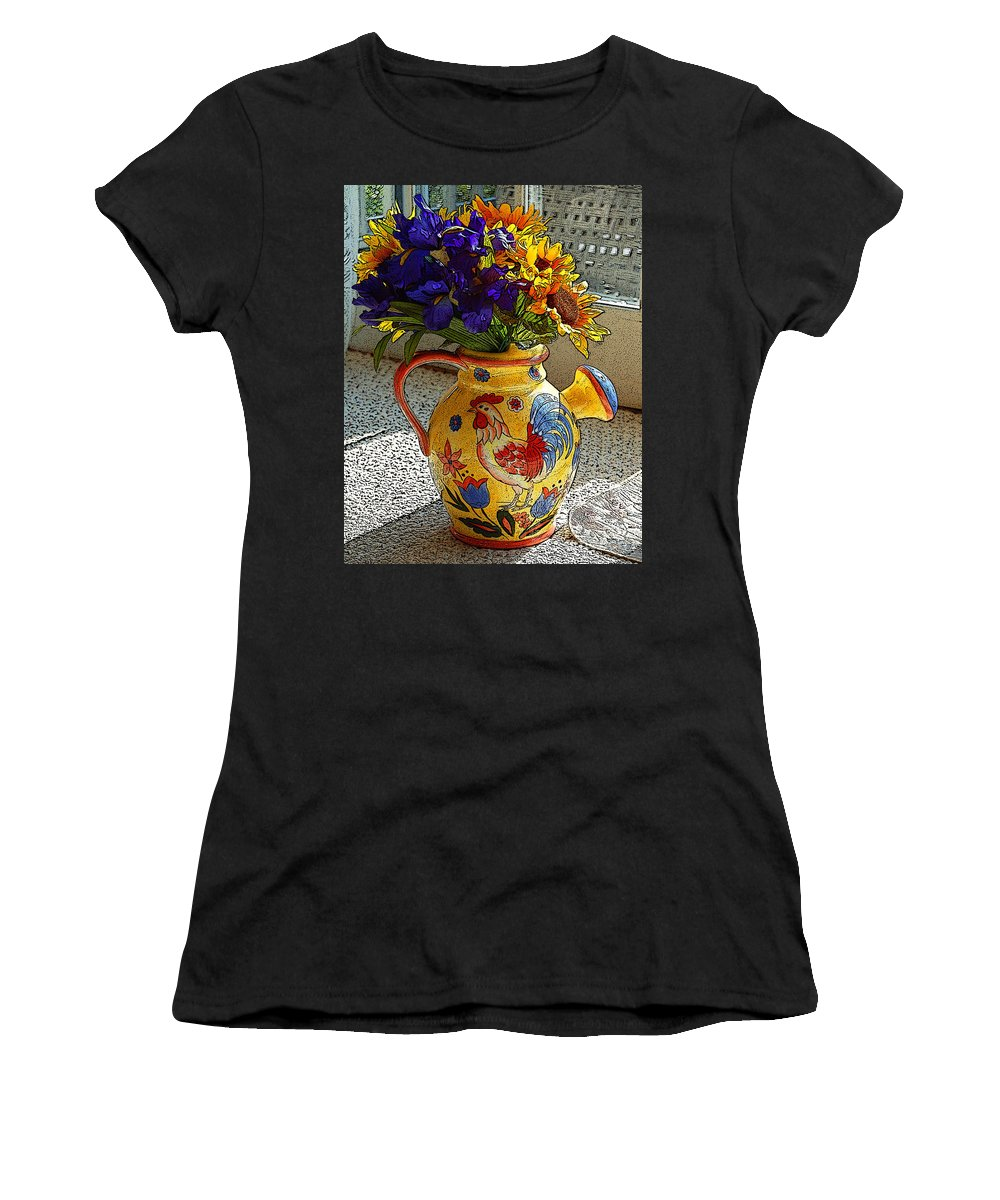 Diane Berry Women's T-Shirt (Athletic Fit) featuring the photograph French Country by Diane E Berry