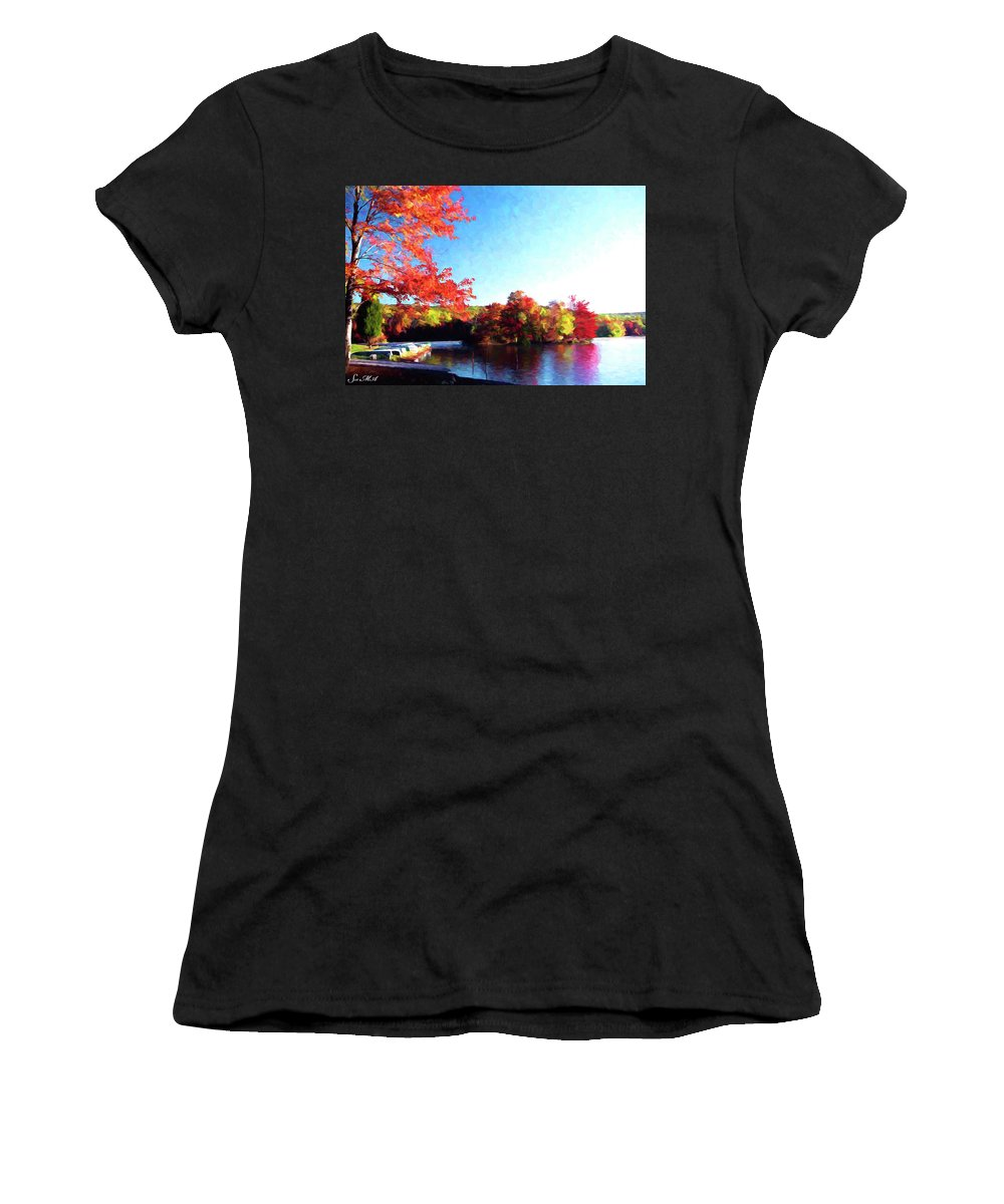 Pennsylvania Women's T-Shirt featuring the photograph French Creek Fall 94-020 by Scott McAllister