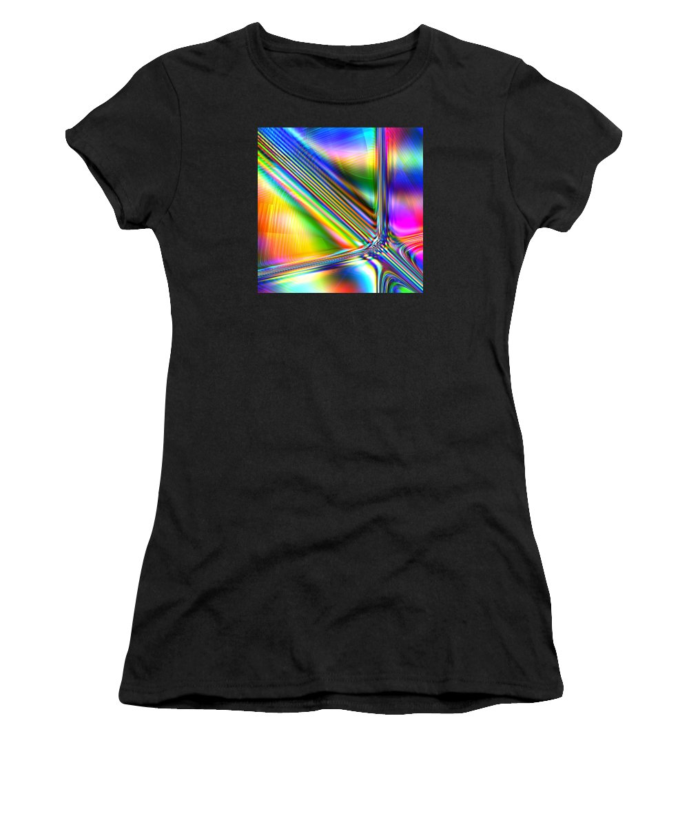 Spectrum Women's T-Shirt featuring the digital art Freshly Squeezed by Andreas Thust