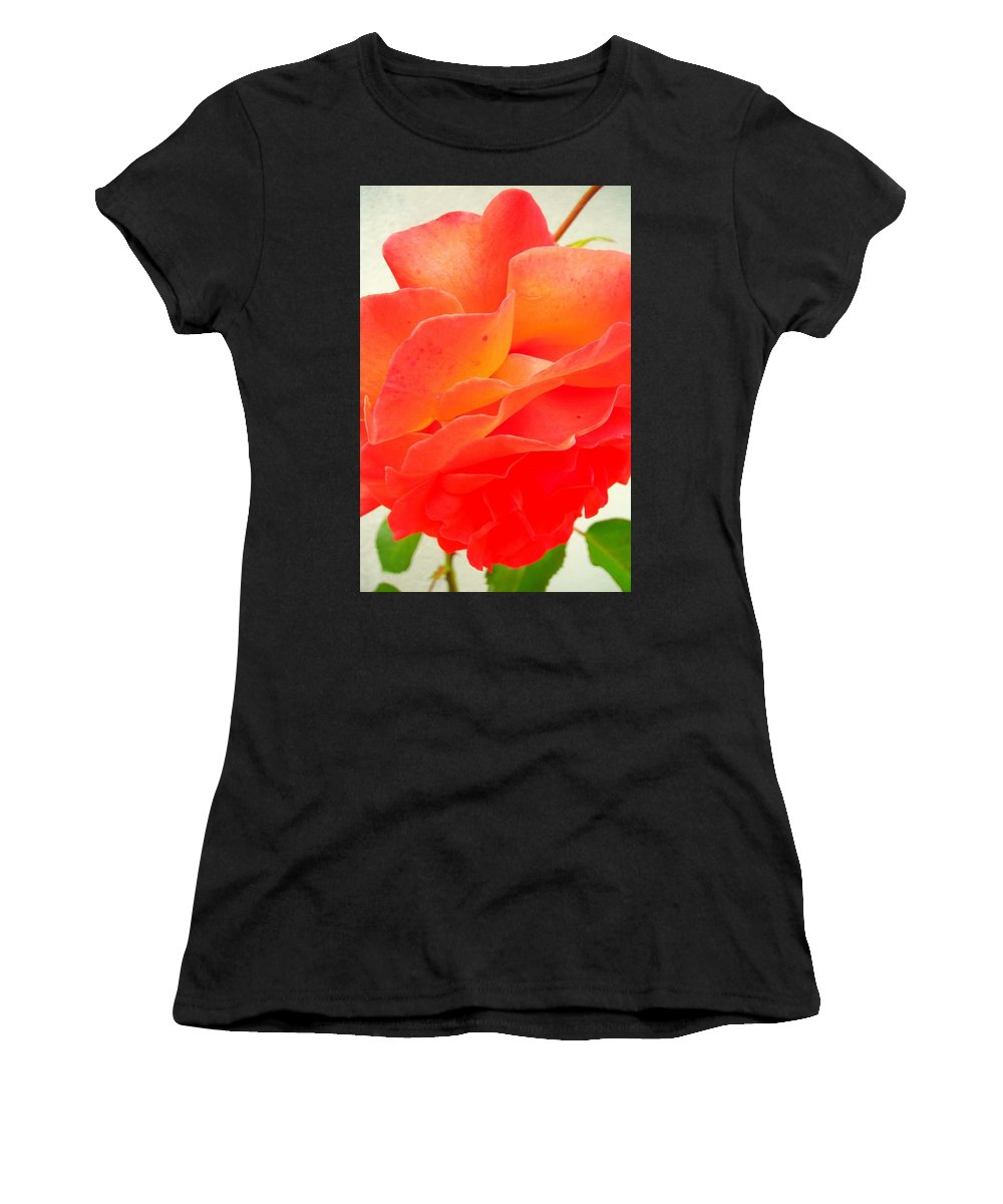 Flower Women's T-Shirt (Athletic Fit) featuring the photograph Friendship by Juergen Weiss