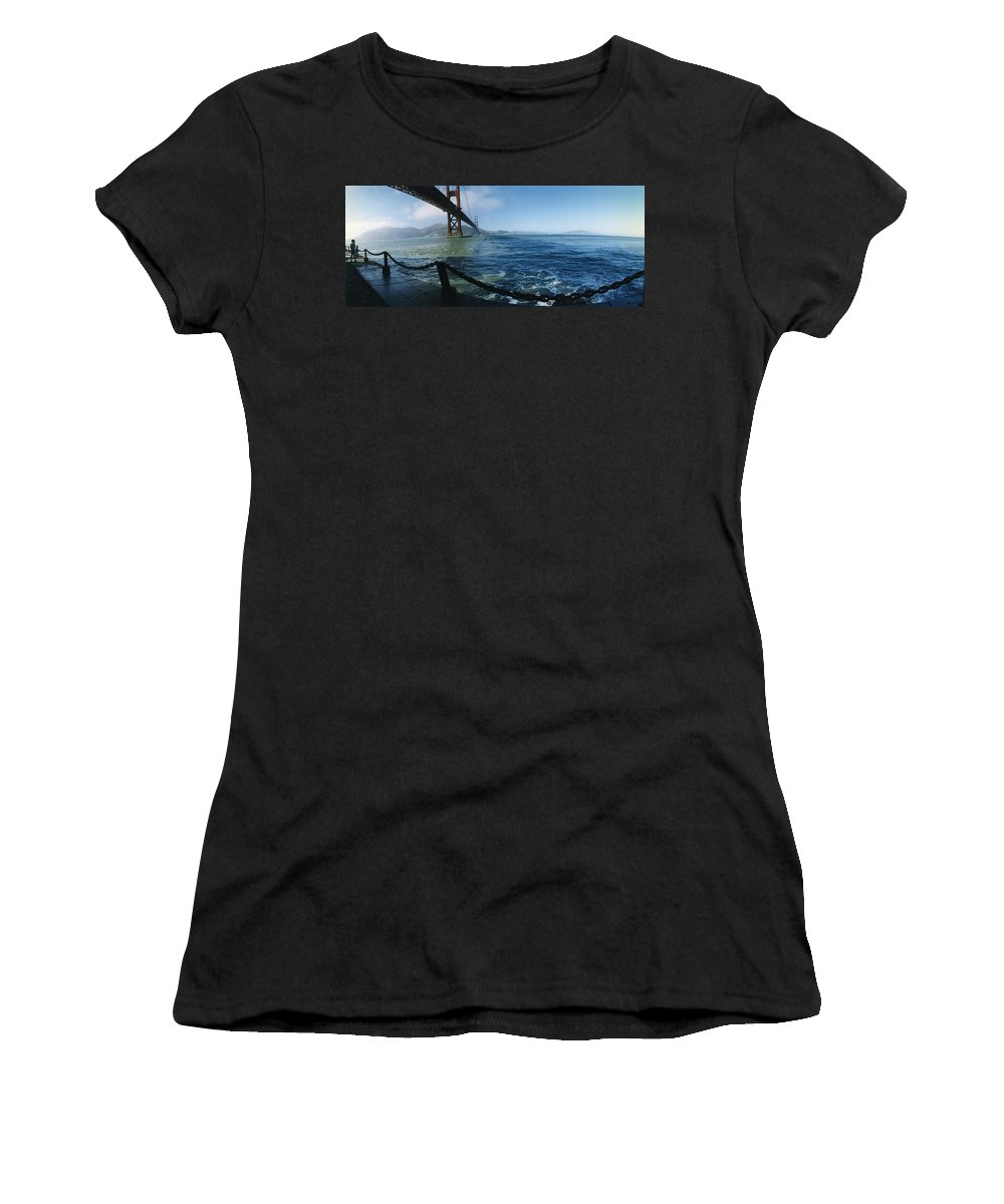 Golden Gate Bridge Women's T-Shirt (Athletic Fit) featuring the photograph From The Bridge by Patty Sokolecki-Smoot