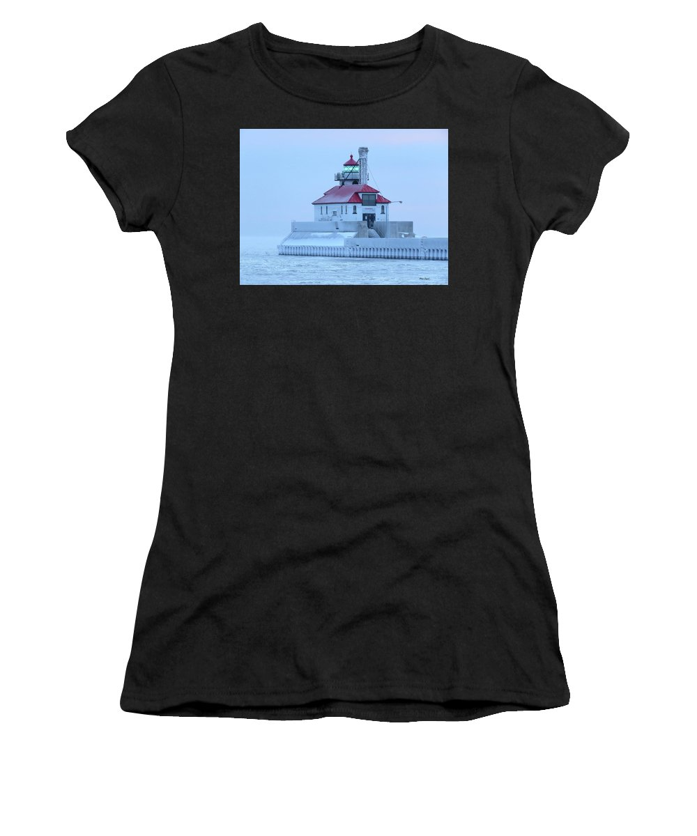Lighthouses Women's T-Shirt (Athletic Fit) featuring the photograph Frosted by Alison Gimpel