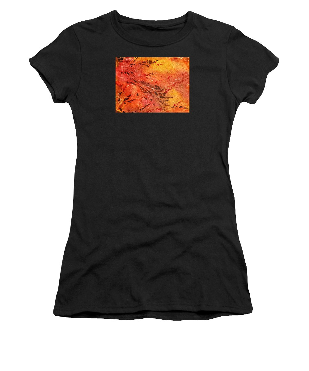 Fire Women's T-Shirt featuring the painting Frosted Fire I by Irina Sztukowski