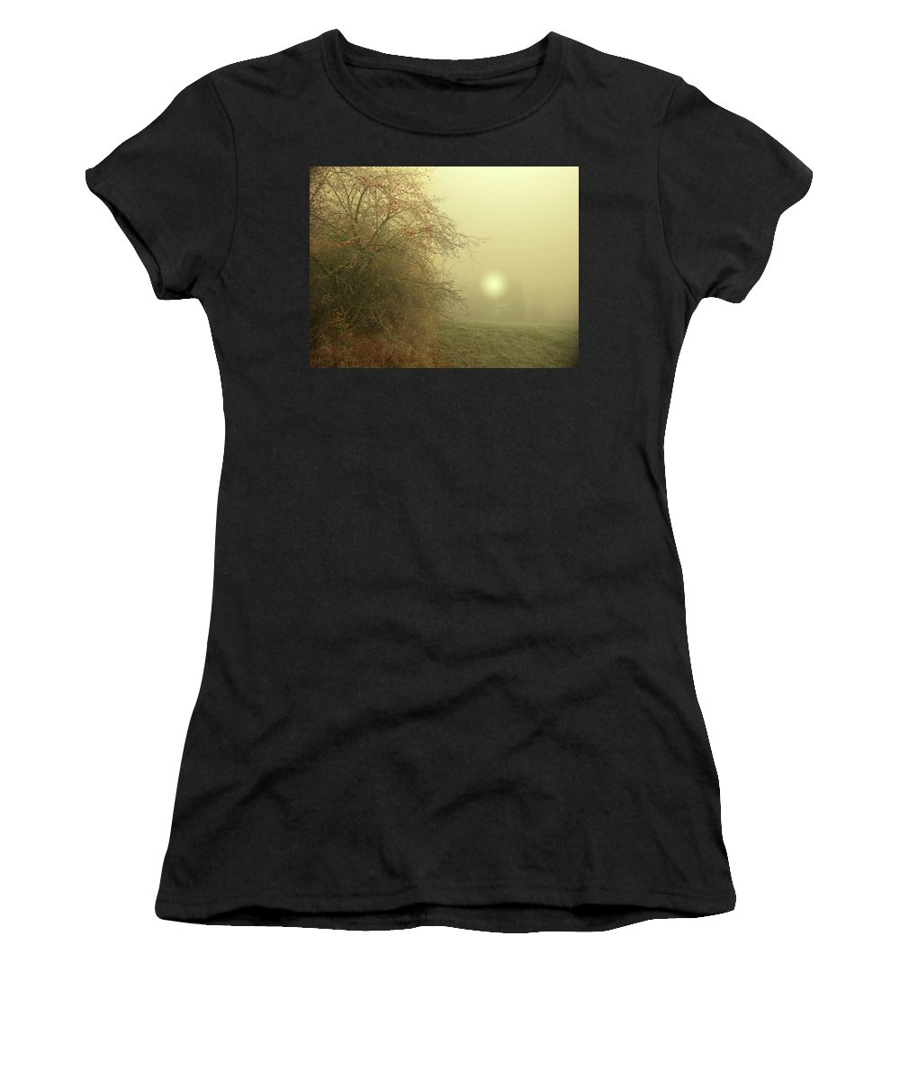 Frost Women's T-Shirt (Athletic Fit) featuring the photograph Frosty Morning by Alex Lim