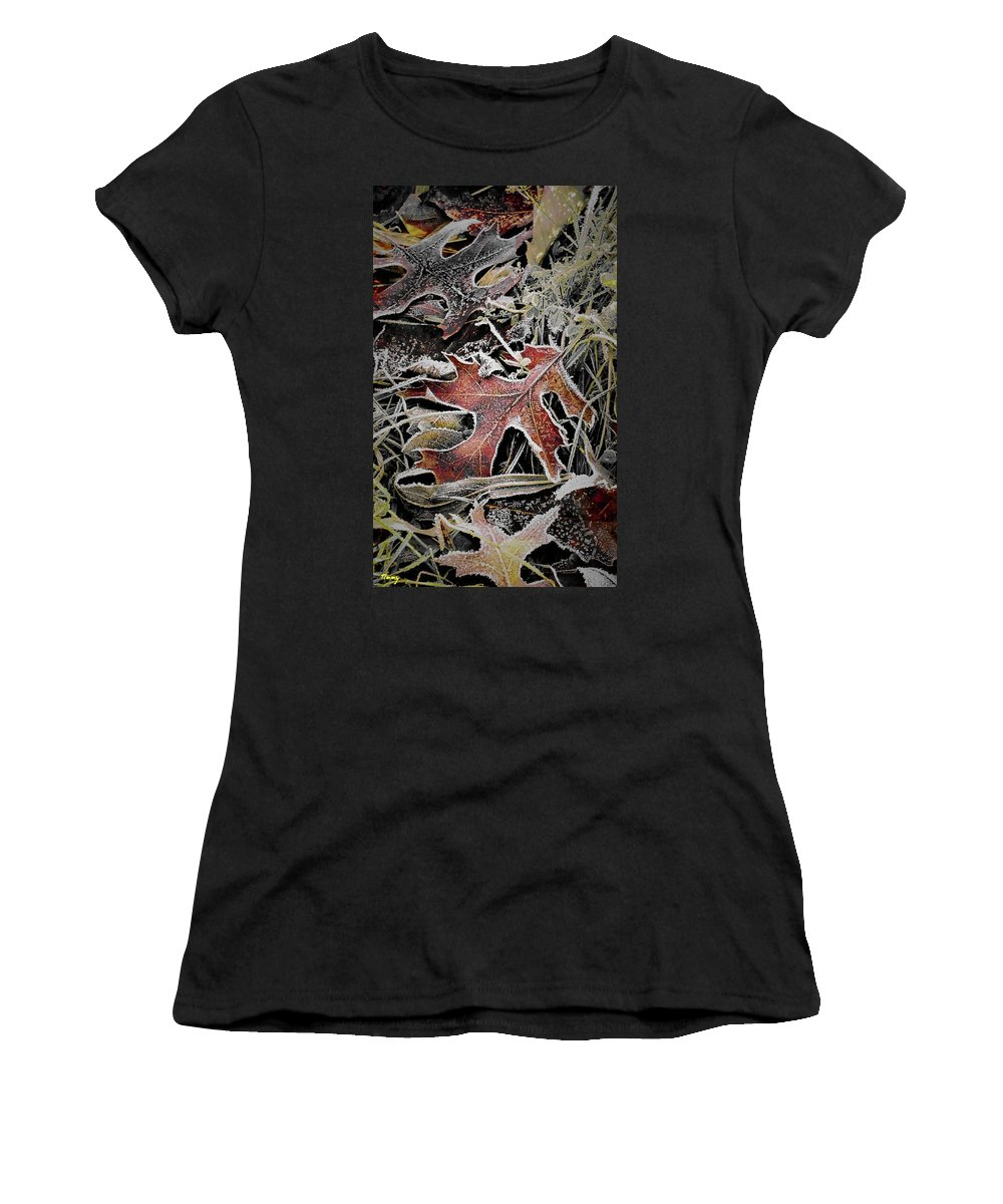 Nature Women's T-Shirt (Athletic Fit) featuring the photograph Frozen In Time by Timothy Porter