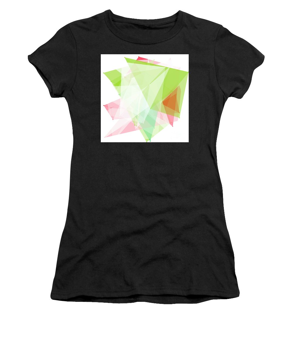 Abstract Women's T-Shirt (Athletic Fit) featuring the digital art Fruit Polygon Pattern by Frank Ramspott